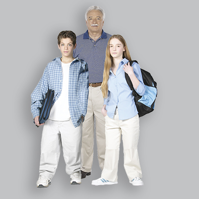 Elder and Teens with Gray2